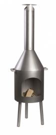 Roestvrijstaal Terrashaard Cotopati, afmetingen H180 x Ø48 cm