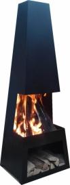 Terrashaard Pulor Black, afmetingen H122 x B44 x L37 cm