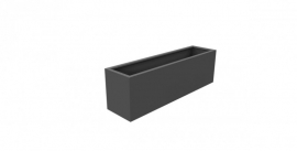 Aluminium plantenbak `Border` 2000x500x600mm