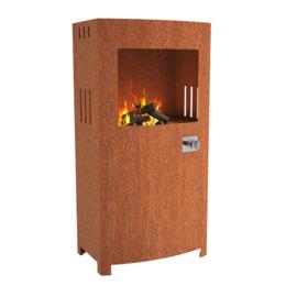 Cortenstaal design gasbrander  70x46x140 cm