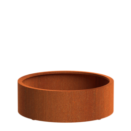 CorTenstaal plantenbak `Arrondi` Ø1200 x 400mm