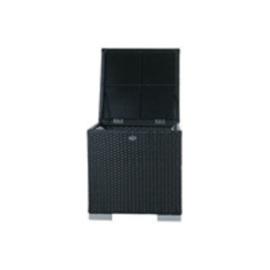 wicker opbergbox 'Pamplona' zwart  - plat vlechtwerk