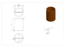 CorTenstaal plantenbak `Arrondi` Ø600 x 800mm