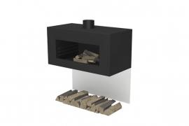 Tuinkachel/BBQ Onek matzwart Wandmodel L100xD50xH50 cm