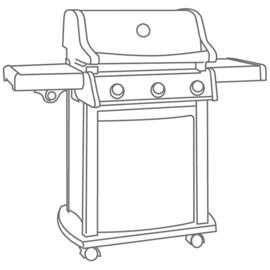 Beschermhoes 'Grill cover 4' voor BBQ, afmetingen L132xH109xD65 cm.