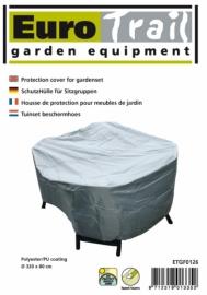 Beschermhoes `Luxe` voor ronde zitgroepen, afmetingen Ø320 x 80 cm