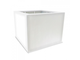 Luxe polyester plantenbak `Cubo` 700x700x700mm
