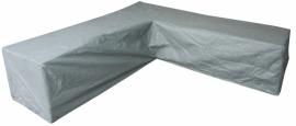 Loungebankhoes `Premium` L-vormig 300 x 300 x 200 x 200 x 70 cm. SFS-3 lagen constructie, ademend.
