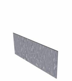 Verzinkt staal kantopsluiting recht 10 strips a 2300x2x100 mm (23 m lengte)