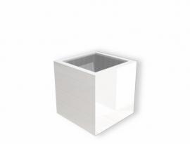 Hoogglans polyester plantenbak `Cubo` 700x700x700mm