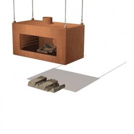 Tuinkachel/BBQ Onek Cortenstaal Hangend Model L100xD50xH50 cm