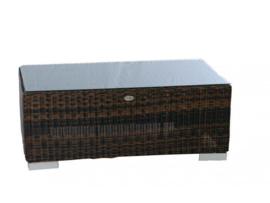 Wicker Tafel 'Salamanca' bruin - rond vlechtwerk