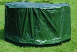 Beschermhoes `Budget` voor ronde tuintafel sets, groen, afmetingen Ø200 x hoogte 85 cm