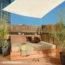 Schaduwdoek `Lazio` in vierkante vorm. Afmetingen L360 x B360 cm