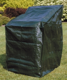 Beschermhoes `Basic` voor (stapel)stoelen, afmetingen L66 x B66 x H128 cm.