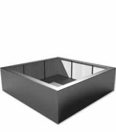 Luxe polyester plantenbak `Piazza` 2000x2000x600mm