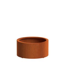 CorTenstaal plantenbak `Arrondi` Ø800 x 400mm