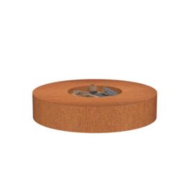 Cortenstaal Vuurtafel 'Bari' D125xH28 cm