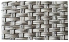 wicker hoekdeel 'Pamplona' grijs geborsteld - plat vlechtwerk