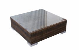 wicker tafel 'Pamplona' bruin - plat vlechtwerk