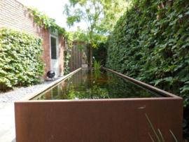 Cortenstaal vijver 'Granada' 500x100x60 cm
