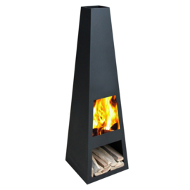 Terrashaard Taci Black XL, afmetingen H150 x B44 x L43 cm