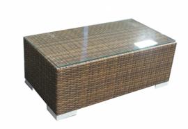 Wicker Tafel 'Salamanca' bruin - plat vlechtwerk