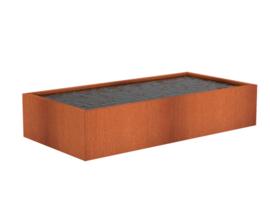 Cortenstaal vijver 'Granada' 400x100x40 cm