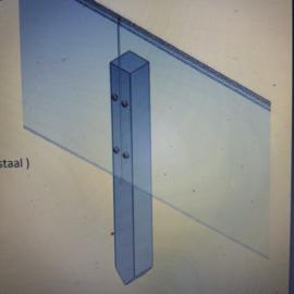 Cortenstaal kantopsluiting recht 10 strips a 2300x3x150 mm (23 m lengte)