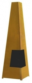 Terrashaard Chacata Cortenstaal XL, afmetingen L44 x B44 x H150 cm