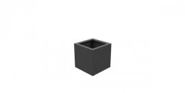 Aluminium plantenbak `Rubik` 500x500x500mm