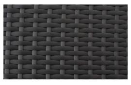 wicker bijzettafel 'Cadiz' zwart - plat vlechtwerk