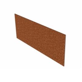 Cortenstaal kantopsluiting recht 10 strips a 2300x2x100 mm (23 m lengte)