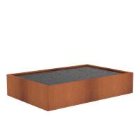 Cortenstaal vijver 'Granada' 300x200x40 cm