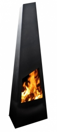 Terrashaard Chinga Black XL, afmetingen D45 x B62 x H190 cm