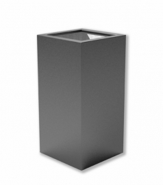 Luxe polyester plantenbak `Alto` 500x500x1000mm