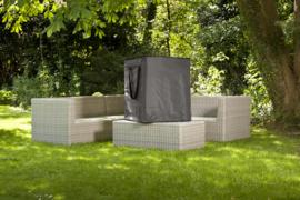 Opbergtas loungekussens `Luxe` 75  x 75 x 90 cm, kleur grijs
