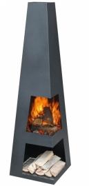 Terrashaard Sango Black, afmetingen L37 x B37 x H122 cm