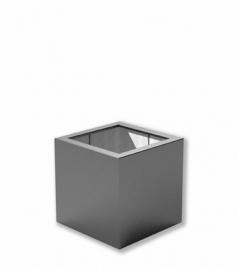 Luxe polyester plantenbak `Cubo` 500x500x500mm