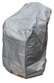 Beschermhoes `Luxe` voor stapelstoelen, afmetingen L66 x B66 x H117 cm.
