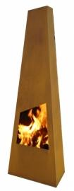 Terrashaard Chinga Cortenstaal XL, afmetingen H190 x B62 x D45 cm