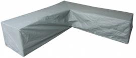 Loungebankhoes `Premium` L-vormig 270 x 270 x 170 x 170 x 70 cm. SFS-3 lagen constructie, ademend.