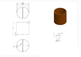 CorTenstaal plantenbak `Arrondi` Ø800 x 800mm