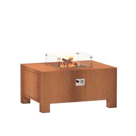Cortenstaal design gasbrander  100x80x50 cm