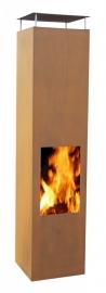 Terrashaard Omayo Cortenstaal, afmetingen L35 x B35 x H150 cm