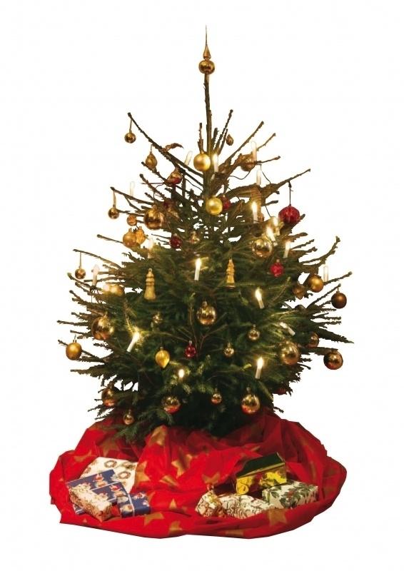 Kerstboomjas rood