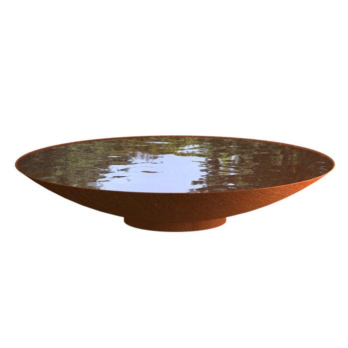 Cortenstaal waterschaal 'Marcia' Ø80xH21 cm
