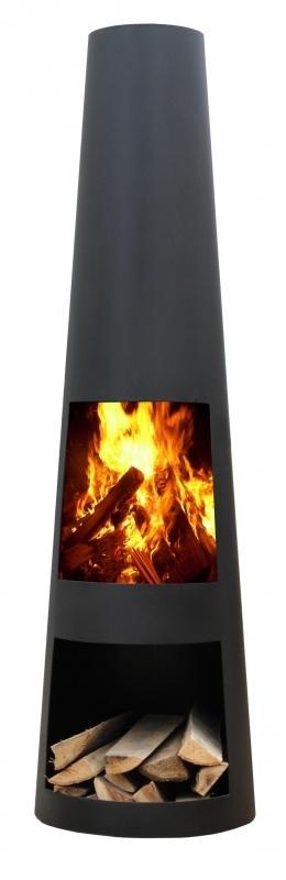 Terrashaard Renga XL Black, afmetingen H145 x Ø42 cm