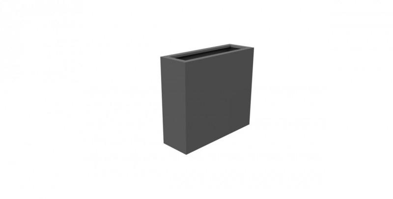 Aluminium plantenbak `Border` 900x300x800mm