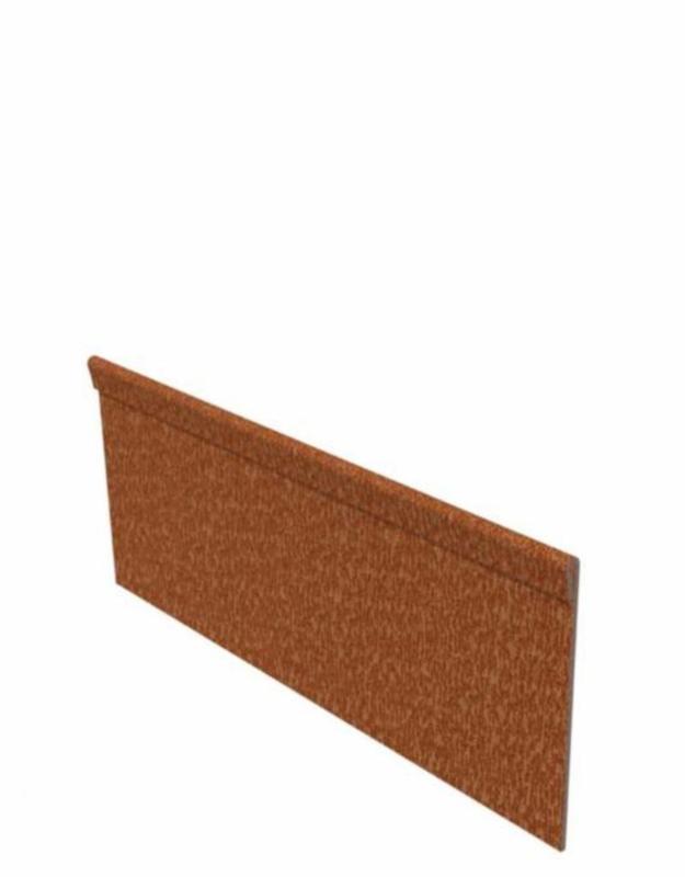 Cortenstaal kantopsluiting geplet 10 strips a 2300x2x150 mm (23 m lengte)